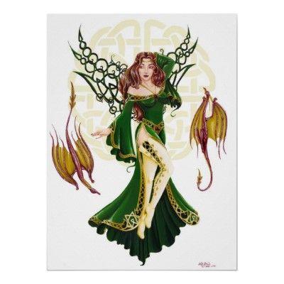 Celtic Faery Poster
