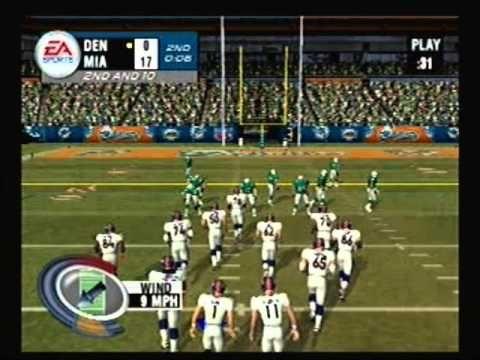 Madden Nfl 2004 Playstation 2 Broncos Vs Dolphins Madden Nfl Nfl Playstation