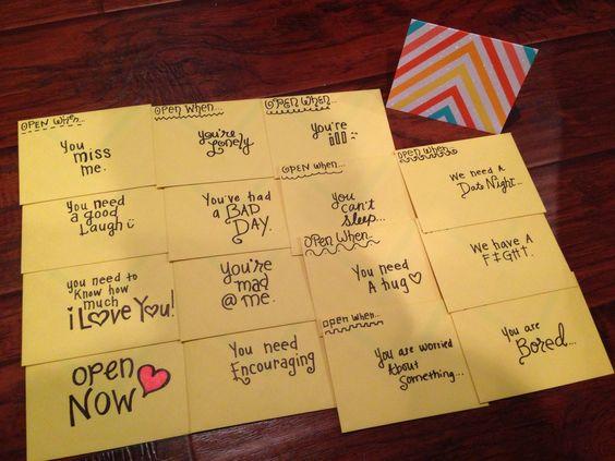 Open When Envelope Ideas Open when envelopes......