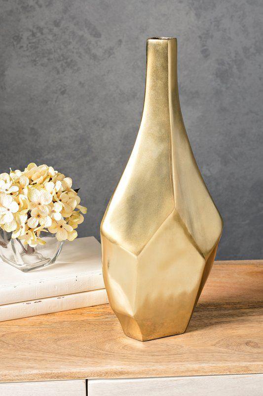 Glam Golden Floor Vase Vase Floor Vase Vases Decor