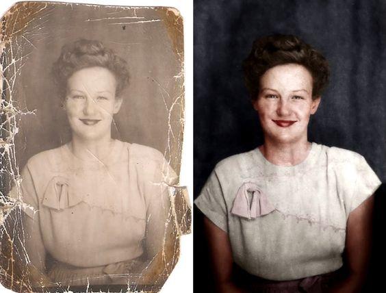 Restaurer une photo ancienne   http://www.laboiteverte.fr/comment-restaurer-et-coloriser-une-vieille-photo-avec-photoshop/