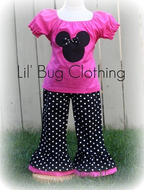 Custom Boutique Clothing Minnie Mouse Pink by LilBugsClothing