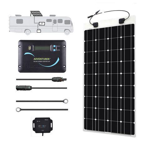 Renogy Mercedes Sprinter 100 Watt 12 Volt Flexible Solar Kit Flexible Solar Panels Monocrystalline Solar Panels Solar Heating