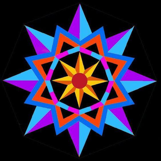 Sun Star paper pieced block