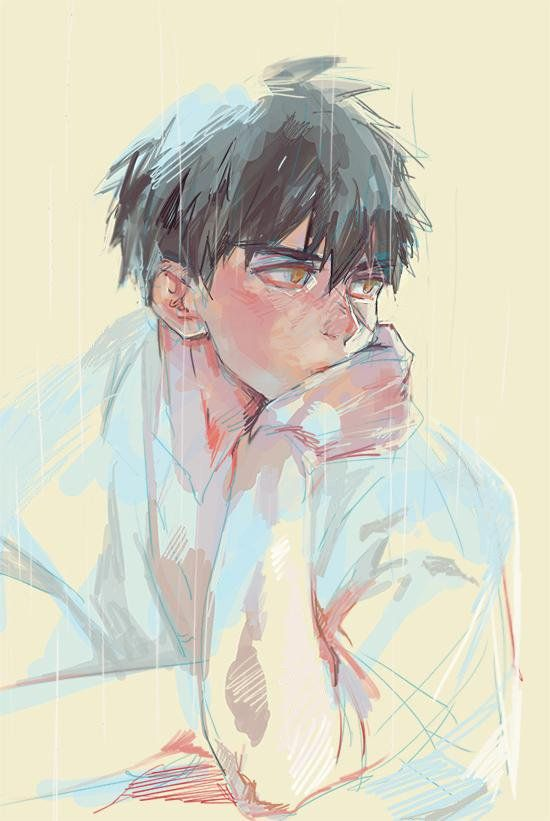Twitter Boy Art Anime Art Face Art Painting
