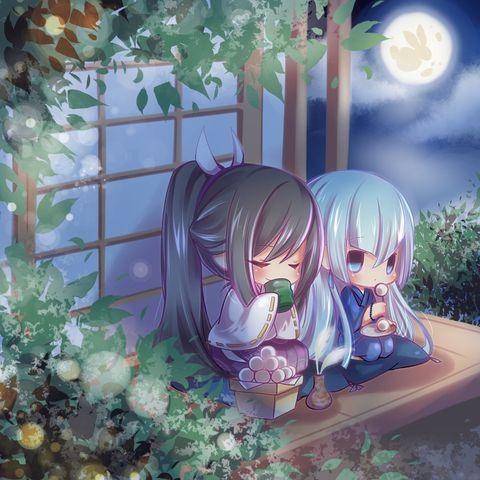 「お月見」/「しぇん」のイラスト [pixiv]: