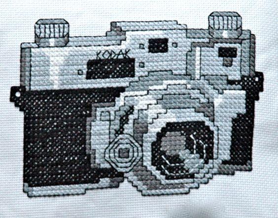 Vintage Camera Cross Stitch Pattern PDF. $5.00, via Etsy.