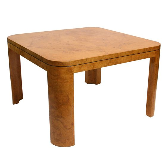 Burl Wood dining or Game Table | From a unique collection of antique and modern dining room tables at http://www.1stdibs.com/furniture/tables/dining-room-tables/