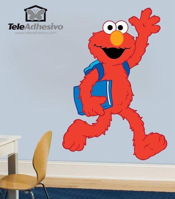 Vinilos Infantiles: Elmo colegio #vinilodecorativo #decoracion #teleadhesivo #BarrioSesamo #SesameStreet #Sesame #Sesamo #Elmo