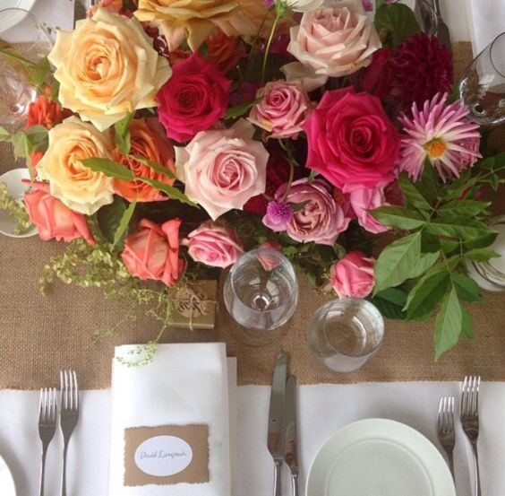 Colourful Table Decor