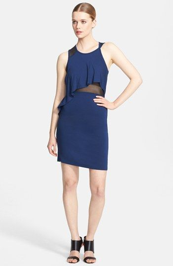 McQ by Alexander McQueen Mesh Inset Asymmetrical Dress available at #Nordstrom