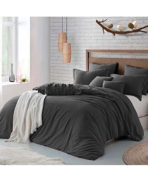 Cathay Home Inc Microfiber Washed Crinkle Duvet Cover Shams King California King Reviews Duvet Covers Sets Bed Bath Macy S In 2021 Duvet Cover Sets Bedding