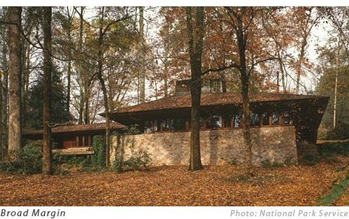 Frank lloyd wright house in greenville sc called broad for Architects greenville sc