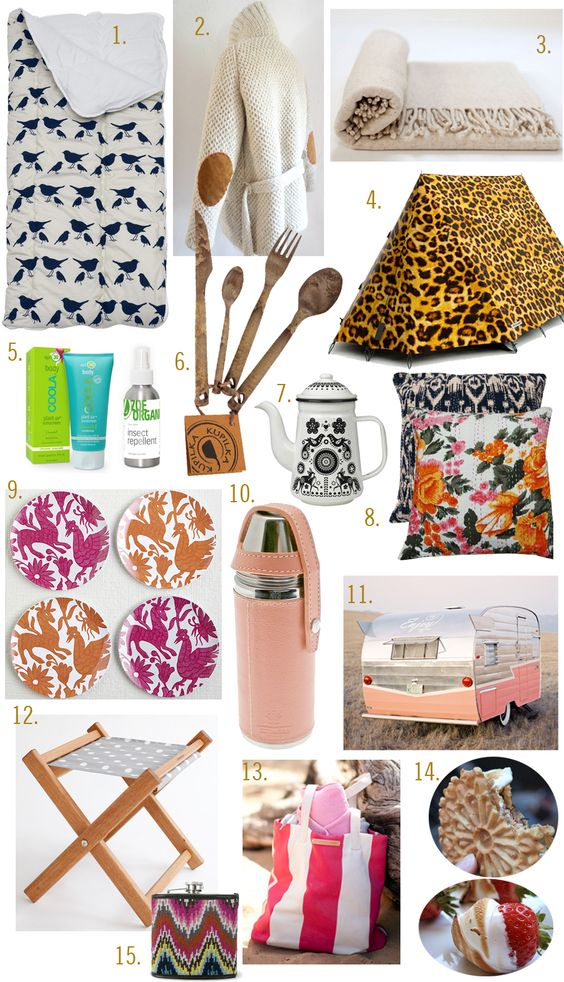 Happy Camping/Glamping for the Ladies - Fun to have pretty things in the woods :-)