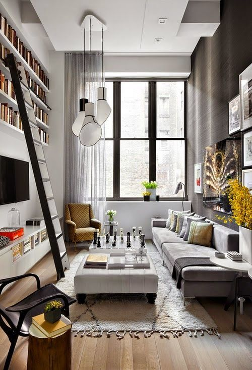 Modern Small Living Room Idea Narrow Sofa Provides Plenty Of Seating Without Overwhelming The Small Ro Narrow Living Room Livingroom Layout Small Living Room