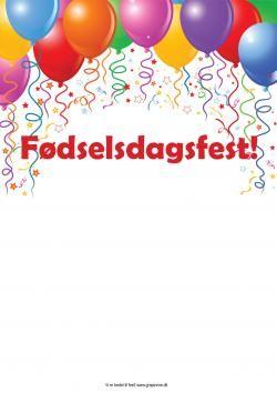 Lav Et Fint Invitationskort Til Bornefodselsdagen Eller Festen Fodselsdag Invitationer Invitationer Gratis Invitationer Skabeloner