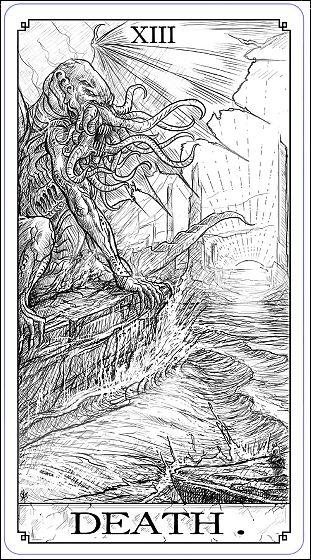 クトゥルフ神話をデザインしたトランプ&タロットカードセット「Call of Cthulhu: The Writhing Dark」 - GIGAZINE