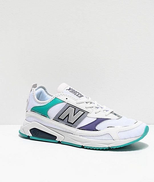 X-Racer White, Violet \u0026 Green Shoes