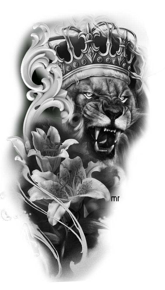 Badass Lion Tattoos Ideas Lion Head Tattoos Lion Tattoo Sleeves Lion Tattoo
