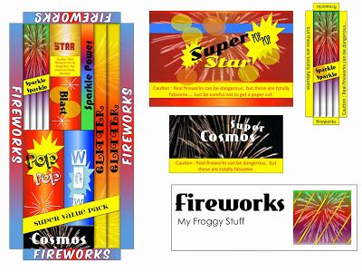 My Froggy Stuff: Happy 4th of July! Fireworks Printable