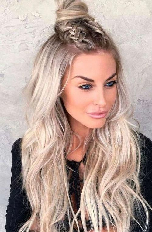 17 Gorgeous Long Hair With Side Bangs For 2019 In 2020 With Images Braids For Long Hair Down Hairstyles For Long Hair Long Straight Hair