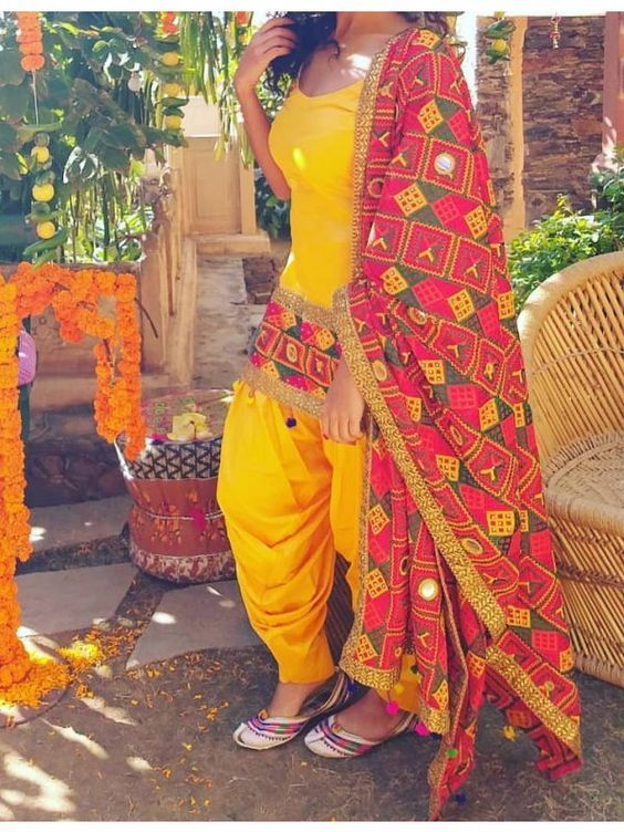 Punjabi Phulkari Suits Phulkari Suit Patiala Suit Designs New Dress Design Indian