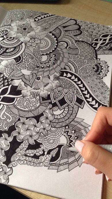 zentangle inspired feather doodle 2013 janine drawing pinterest doodles feathers and patterns - Drawing Design Ideas