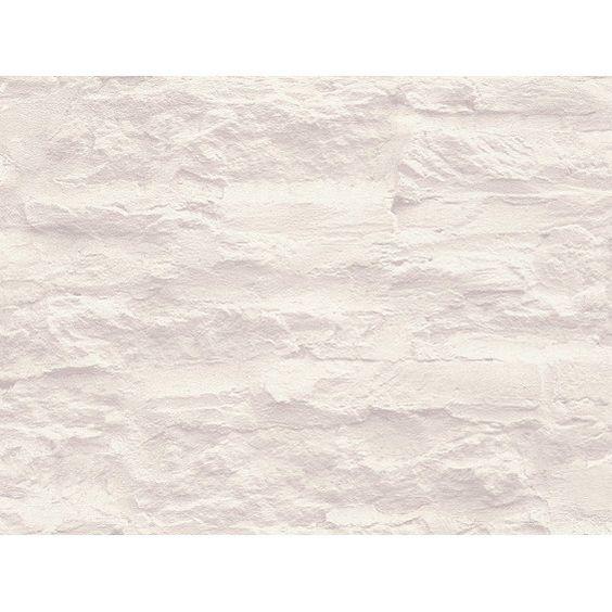 Schöner Wohnen Vliestapete Stein Weiß