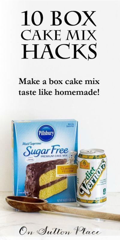 10 Box Cake Mix Hacks | Simple, Cake mixes and Box cake