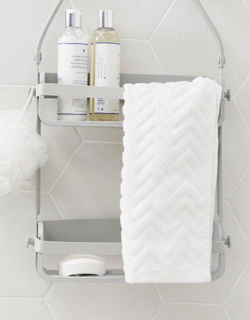 Flex Shower Caddy In 2020 Simple Bathroom Decor Shower Organization Simple Bathroom