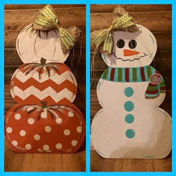 Dude, so clever. Love decorations that can easily transition from one season to the next!: