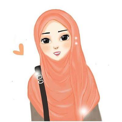 Gambar Kartun Muslimah Cantik Terbaru 2019 Cute Drawings Of Love Girl Cartoon Characters Drawing Cartoon Characters