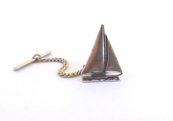 Small Sailboat Tie Tack Sterling Silver Finish by BellaMantra, $12.00