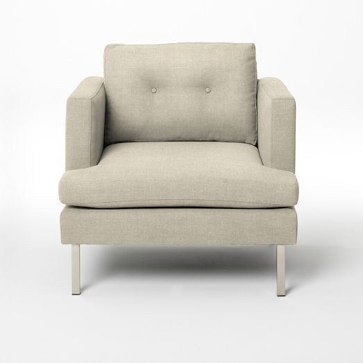 Jackson Armchair - Solids | west elm $799 (brushed heathered cotton)