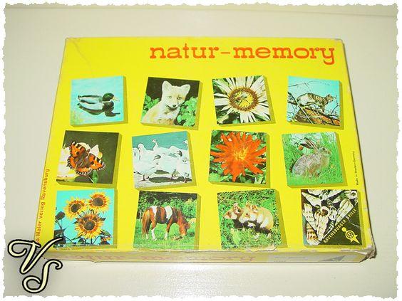 Vintage Kartenspiele - natur-memory - Ravensburger Spiele - 70er/80er - ein Designerstück von Vintageschippie bei DaWanda