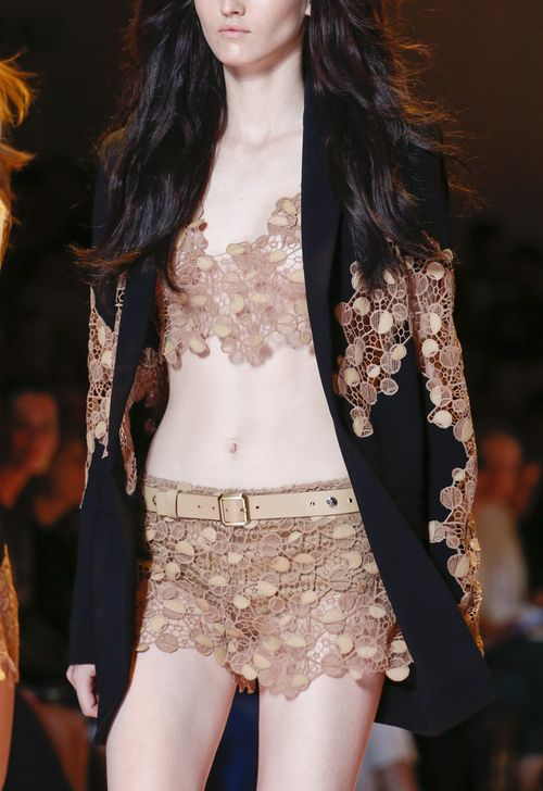 Love the lace style! Versace MFW Spring 2013 rtw
