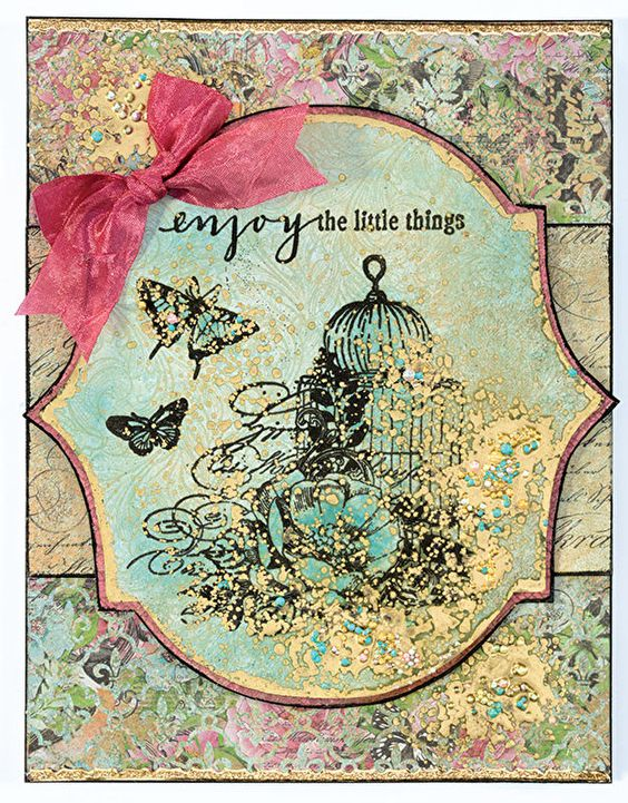 Mystic Garden Stamp Set by Hot Off The Press Inc (4101188) - And yet another card that I like from this set of stamps!