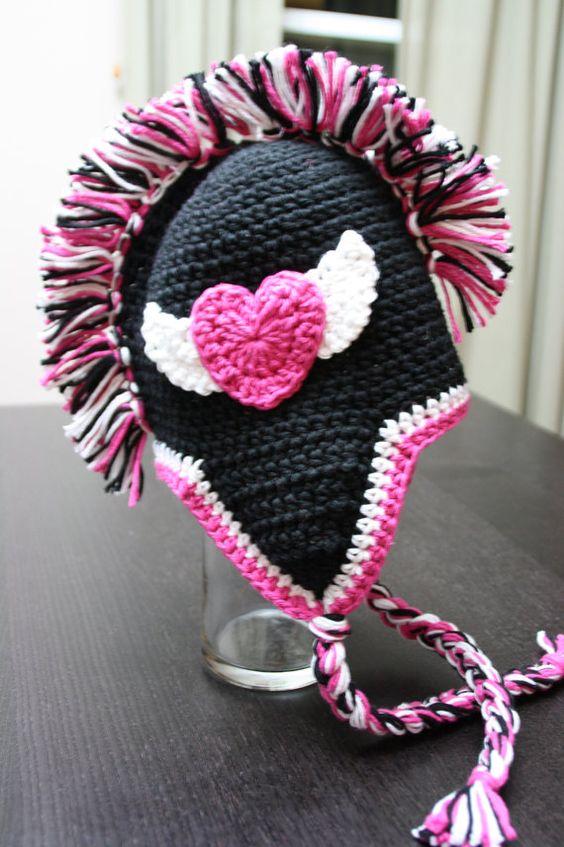Mohawk crochet hat pattern available here: http://www.etsy ...