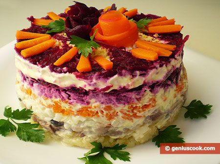 The Dressed Herring Recipe | Russian Food Recipes | Genius cook - Healthy Nutrition, Tasty Food, Simple Recipes