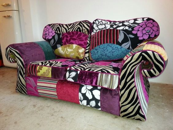 patchwork sofa patchwork sofas and chairs pinterest upholstery