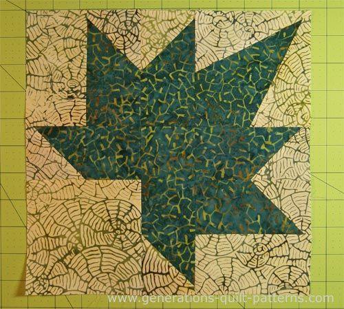 Autumn Leaf Quilt Block: A Maple Leaf variation, 3 sizes ... : free quilt videos - Adamdwight.com
