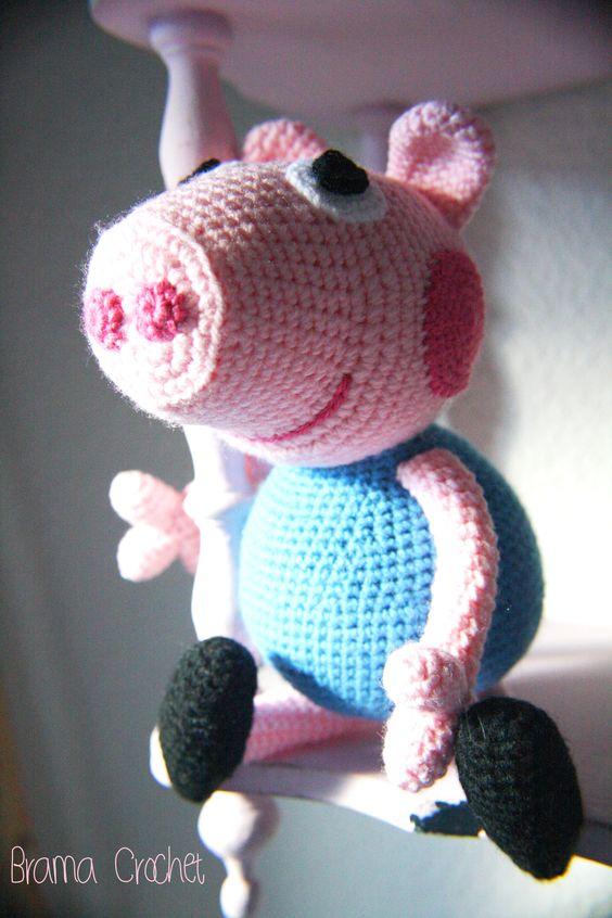 Peppa Pig Amigurumi Crochet : George Pig by Brama Crochet (amigurumi doll)  Amigurumi ...
