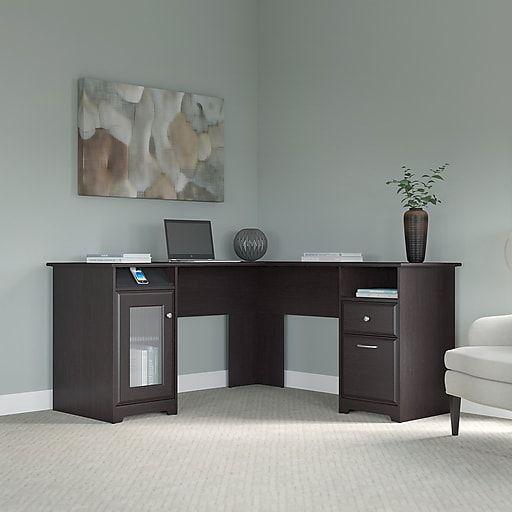 Bush Furniture Cabot 60w L Shaped Computer Desk Espresso Oak Wc31830 03k Staples Bush Furniture Furniture Dining Furniture Makeover