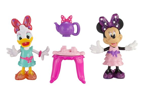 Fisher-Price Disney Minnie Tea Time Pals Toy. 5-inch Minnie figure. 5-inch Daisy Figure. Includes table, teapot, and tray. Girls will love this. A great gift for Minnie and Daisy fans!.