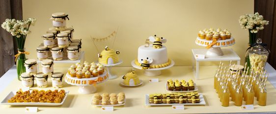 Sweet As Honey dessert table on Amy Atlas
