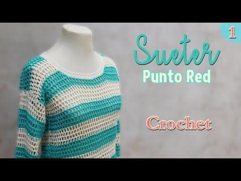 Como Aprender A Tejer Crochet Para Principiantes Como Tejer Un Sueter A Crochet Para Principiantes 1 2 Youtube