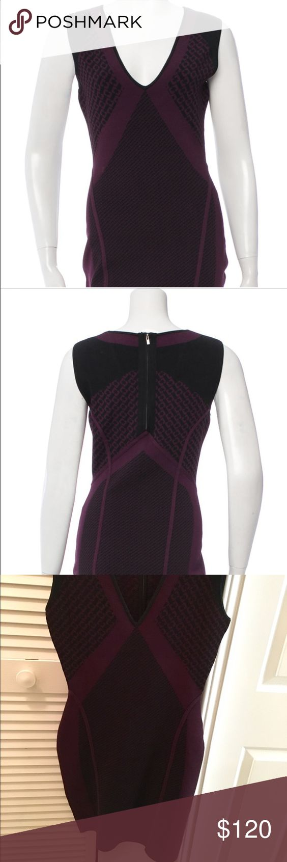 Diane Von Furstenberg  stretch bodycon dress S Authentic DVF dress / stretch knit bodycon / Purple and Black / size S / worn once / retails for $450 Diane von Furstenberg Dresses Mini