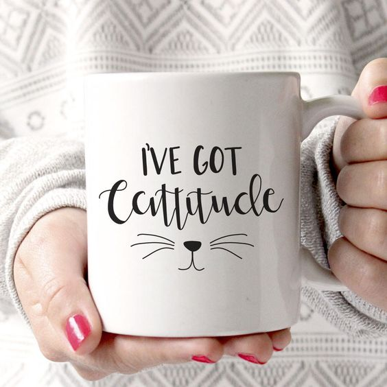 I've Got Cattitude Mug from Little Lovelies Studio. Saved to Quick Saves. Shop more products from Little Lovelies Studio on Wanelo.