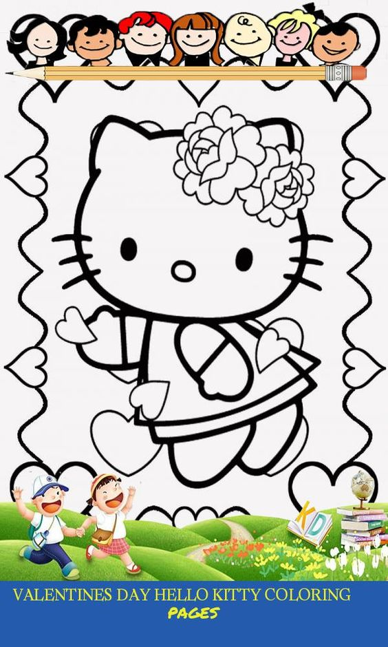 18 Valentines Day Hello Kitty Coloring Pages Hello Kitty Colouring Pages Kitty Coloring Hello Kitty Printables