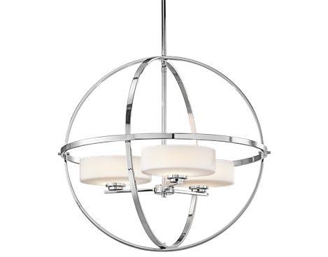 Chandelier 3Lt Halogen CH - Kichler Lighting - pendant, ceiling, landscape light fixtures & more